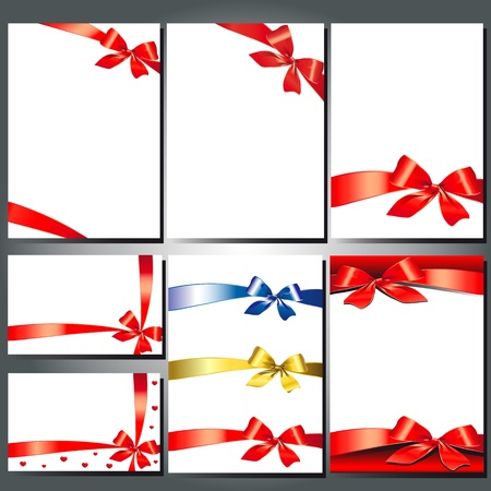 bow ribbon vector set Vector