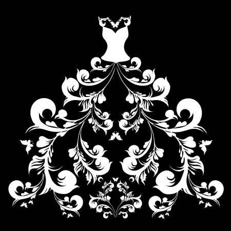 ankleiden: Hochzeitskleid