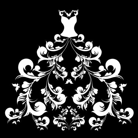 suknia ślubna: suknia Å›lubna Ilustracja