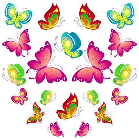 pink flower background: butterfly, butterflies, vector