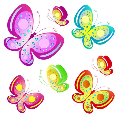 papillon rose: papillon, papillons, vecteur