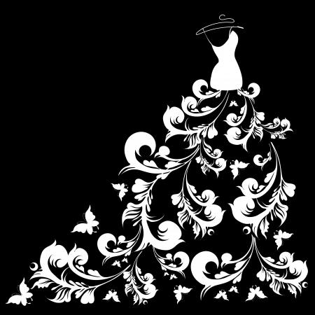 suknia ślubna: vector suknia Å›lubna