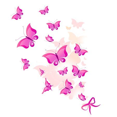 butterfly bow: butterfly, butterflies, vector