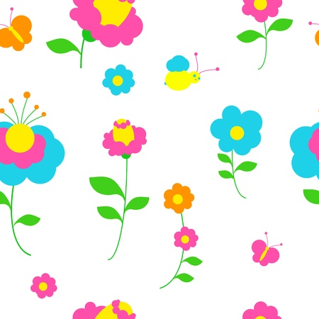 flowers pattern vector Vector
