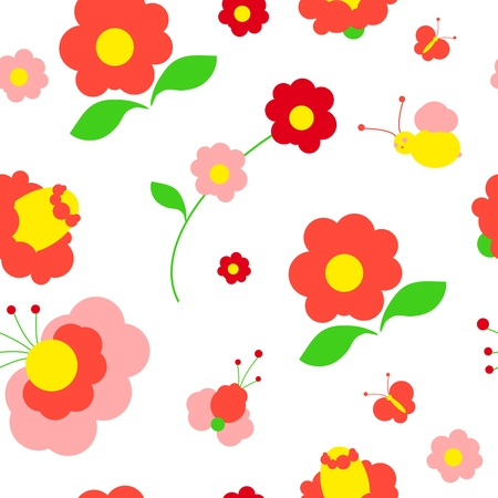 flowers card vector Vector