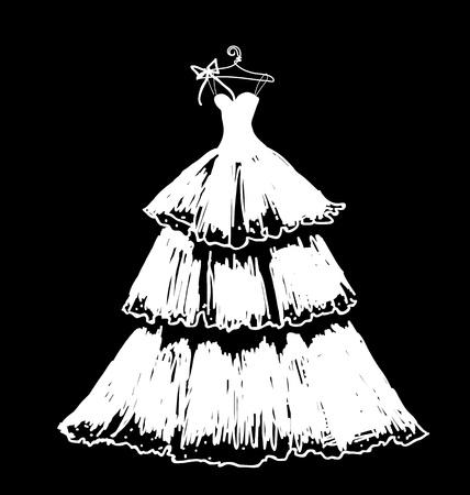 suknia ślubna: vectorw suknia ślubna