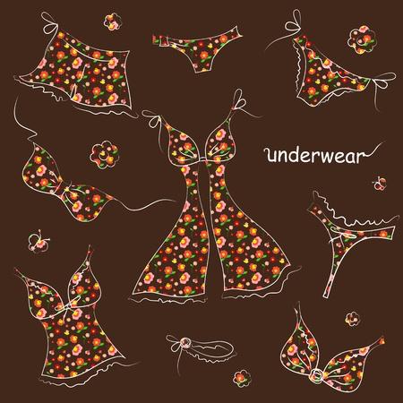 underwear design vector Vector