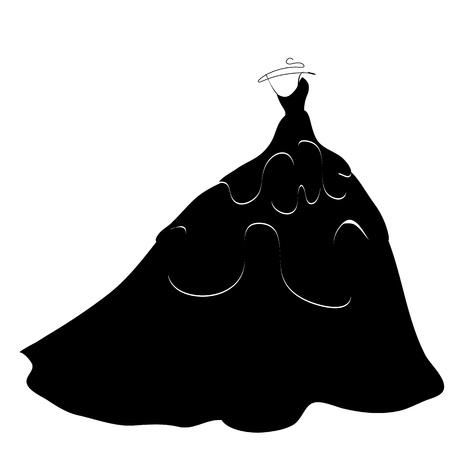 wedding dress vector Vector