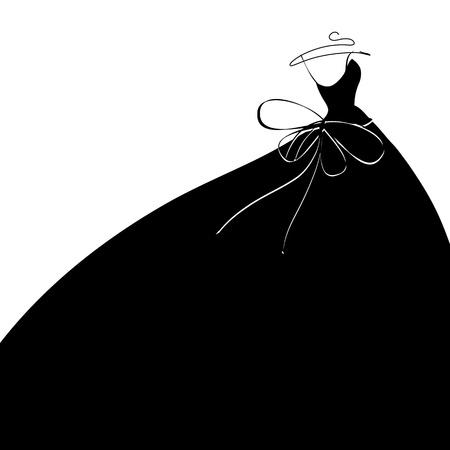 Hochzeitskleid Vektor Vektorgrafik