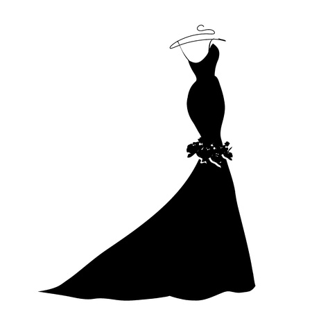 fiancee: wedding dress vector Illustration