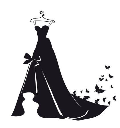wedding dress vector Иллюстрация