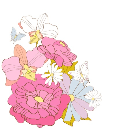 flowers card vector Stock Vector - 20921152