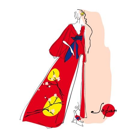 Japan woman Vector