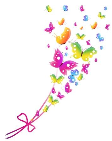 butterfly on flower: butterfly, butterflies, vector
