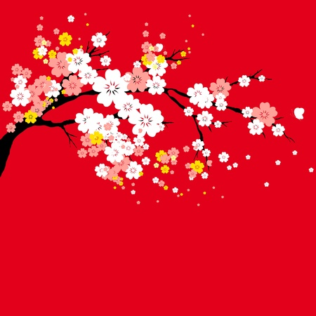 flowers tree Vector