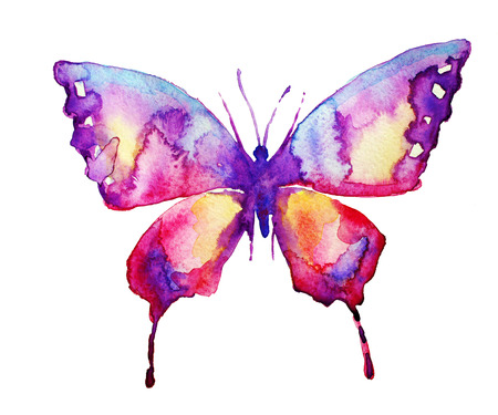 watercolour paper: butterfly