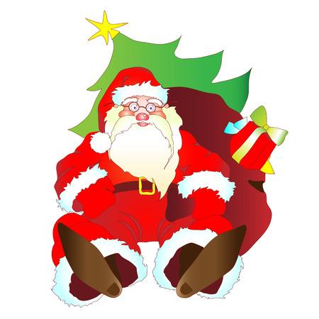 fell: Christmas,New Year design Illustration