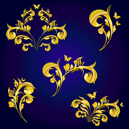 metalic design: swirls design Illustration