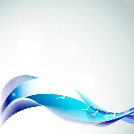 abstracte golven ontwerp