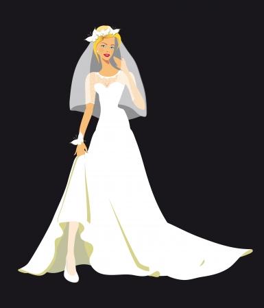 wedding dress Stock Vector - 23551335