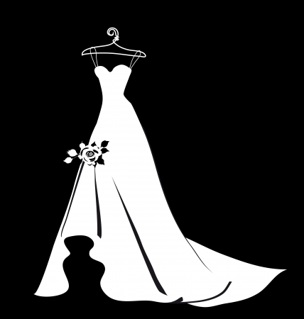 beautiful wedding dress Stock Vector - 23680793