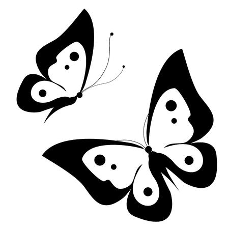 metalic design: butterflies design Illustration