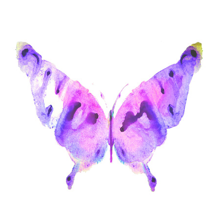 purpule: butterfly,watercolor design