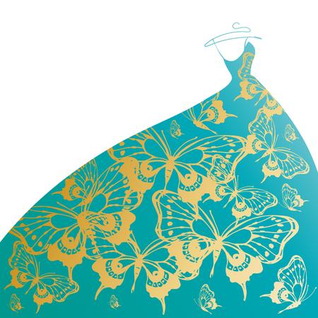 wedding dress Stock Vector - 24393300