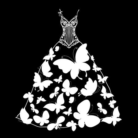 wedding dress Stock Vector - 24479425