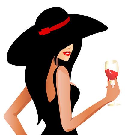 belle dame: belle femme Illustration