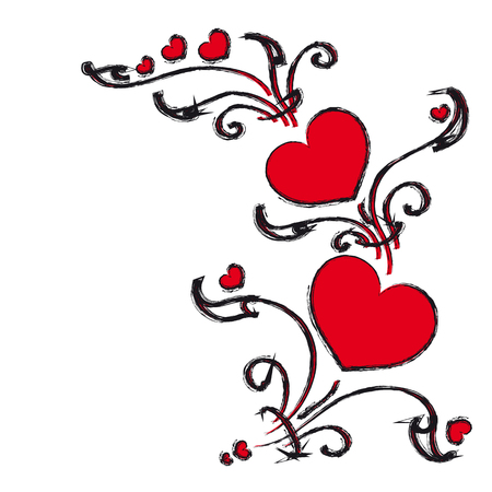 unusual valentine: hearts design