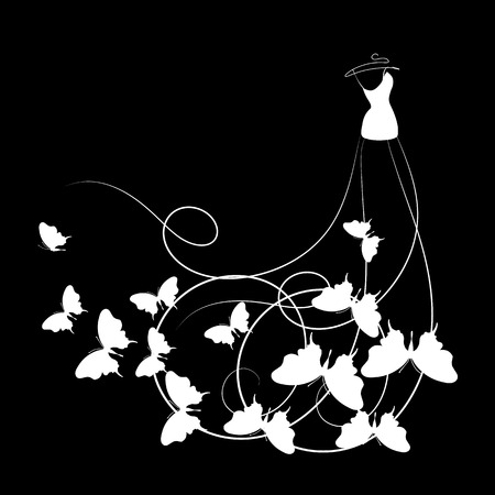 dress,wedding design Stock Vector - 25244992