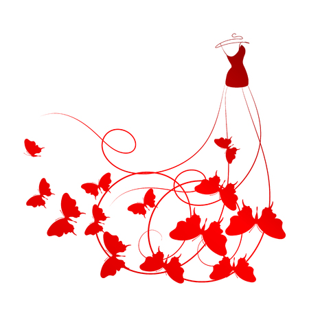 dress,wedding design Stock Vector - 25245004
