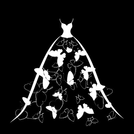dress,wedding design Stock Vector - 25635484