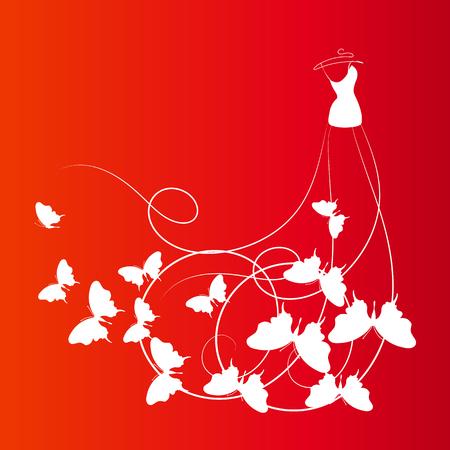 beautiful wedding dress Stock Vector - 25780268