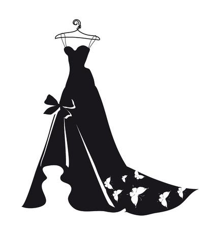 beautiful wedding dress Stock Vector - 26377068