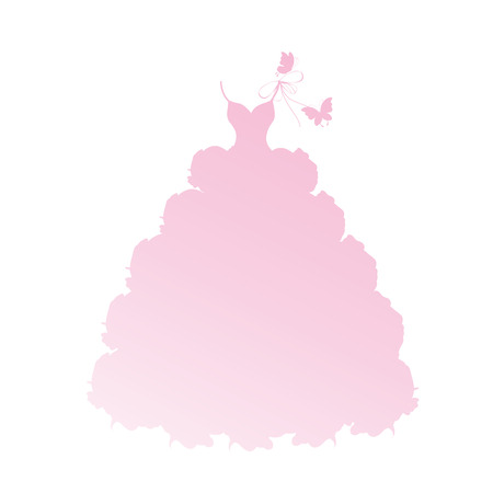 dress,wedding design Vector