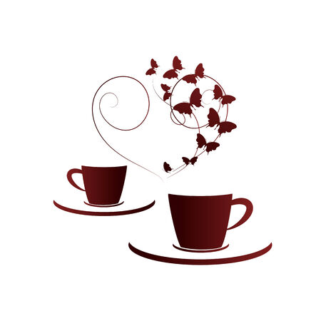 cup of coffee: cup,coffee Illustration