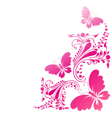 papillon rose: conception de papillons