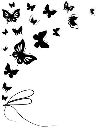 metalic background: butterflies design Stock Photo