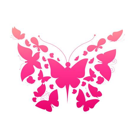 butterfly bow: butterflies design Stock Photo