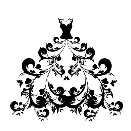 evening dress: dress design Illustration