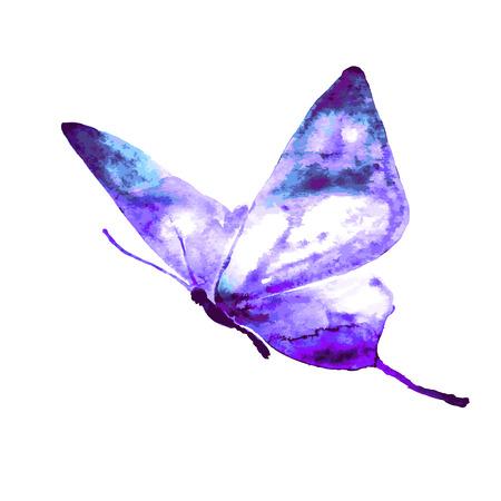 flor morada: dise�o de mariposas
