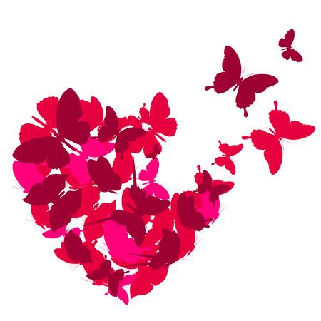 papillon: coeurs d'amour,