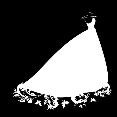 ウェディングドレス: ウェディング ドレスのデザイン  イラスト・ベクター素材