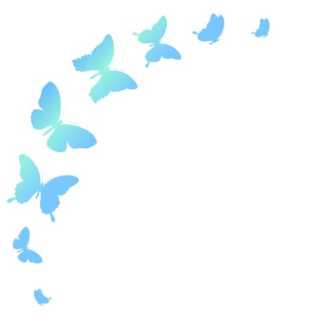 swirl background: butterflies design Illustration