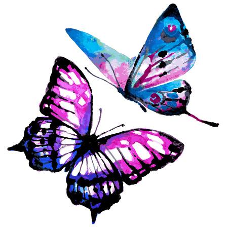 violeta: dise�o de mariposas