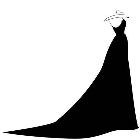 fiancee: dress design Illustration