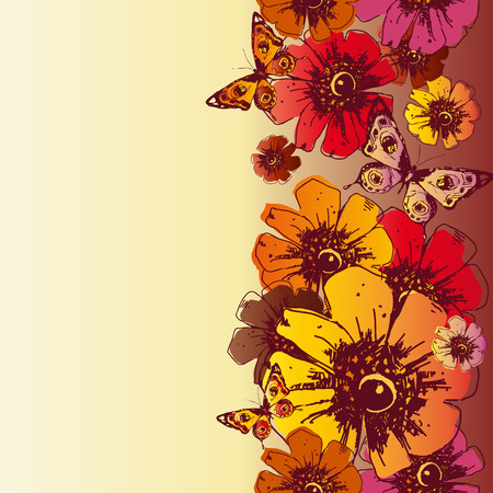 ard: flowers design Illustration