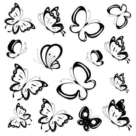 silhouette papillon: conception de papillons